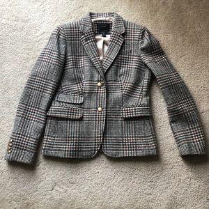 J Crew schoolboy tweed blazer size 6